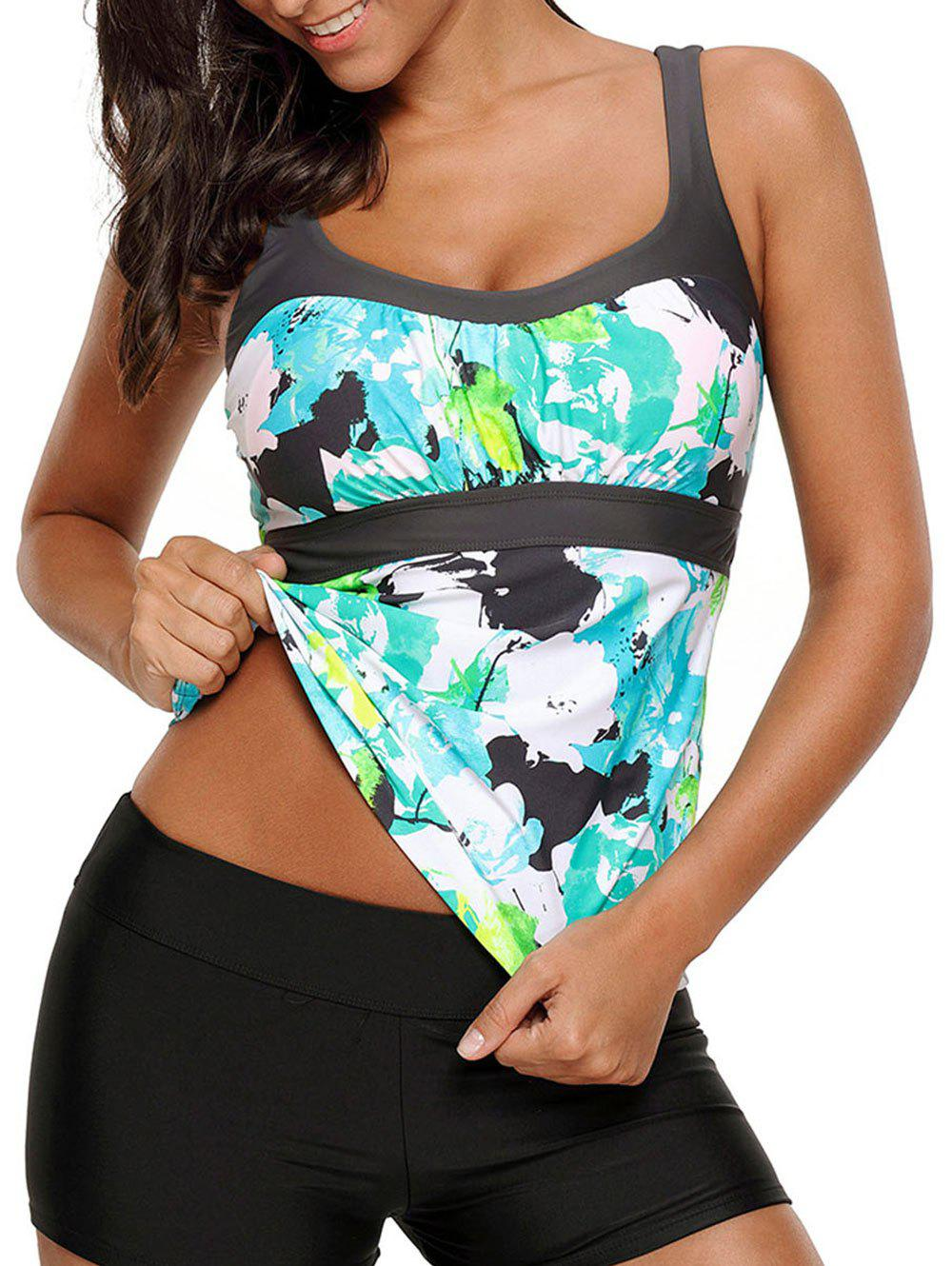 Shops Printed Padded Tankini Top