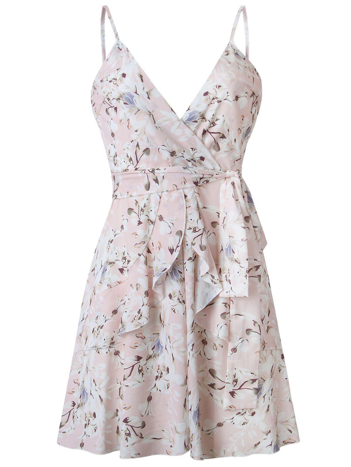 Outfit Surplice Flower Cami Belted Dress
