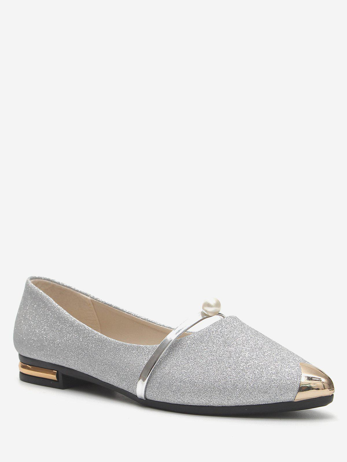 Fancy Shiny Pointed Toe Flats