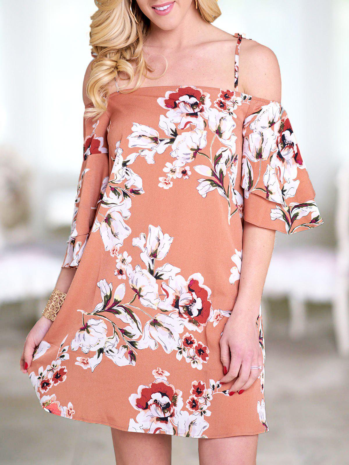 Outfits Flower Bell Sleeve Cami Dress