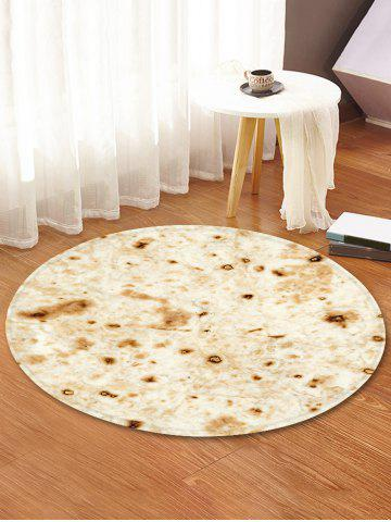 Burrito Pattern Round Water Absorption Area Rug - BLANCHED ALMOND - 120CM (ROUND)