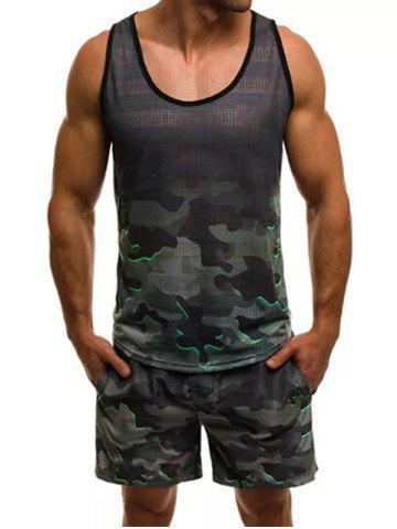 3518c1252ba82 Camouflage Pattern Tank Top and Shorts