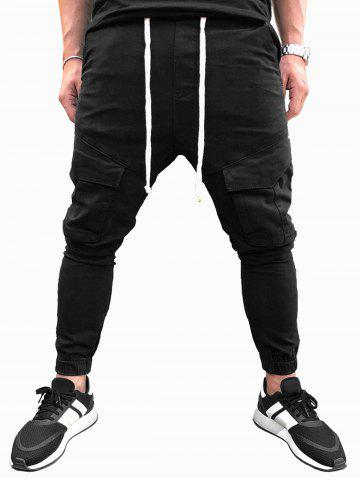 Solid Color Drawstring Casual Jogger Pants