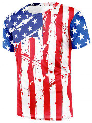 7612b25a8680 American Flag Painting Print Beach T-shirt