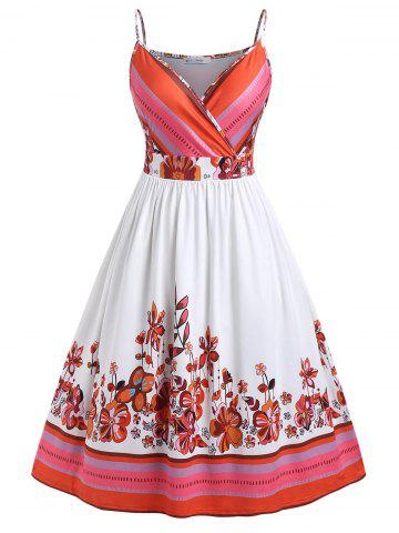 Plus Size Floral Fit and Flare Dress