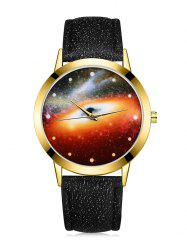 Black Hole Mirror Galaxy Quartz Watch -