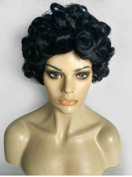 Curly Short Fluffy Synthetic Wig -