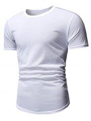 Casual Style Round Neck T-shirt -