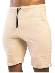 Two Tone Patch Casual Shorts -