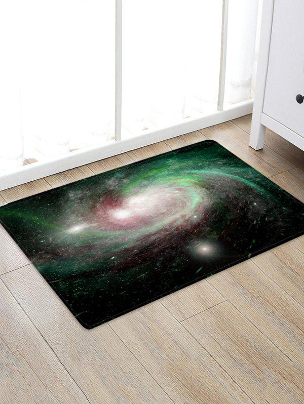 Chic Starry Sky Black Hole Pattern Floor Mat