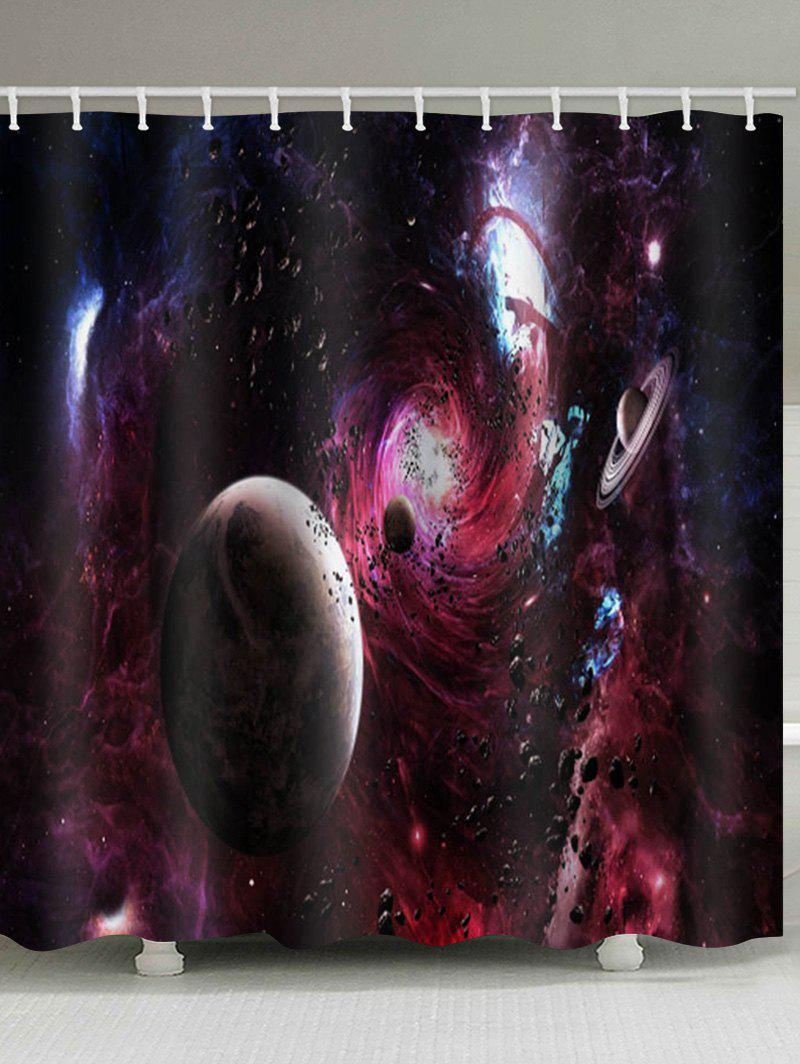 Outfits Outer Space Planet Print Waterproof Bathroom Shower Curtain