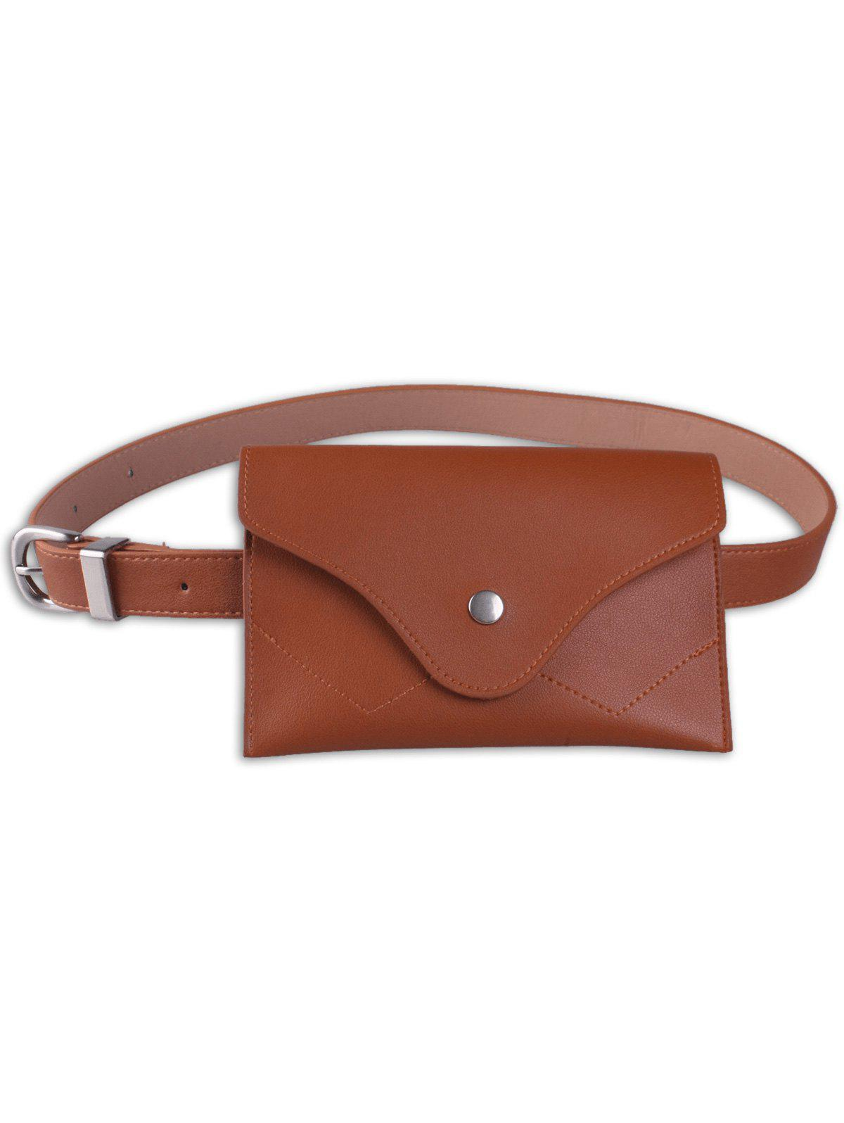 New Faux Leather Pin Buckle Waist Belt with Bag