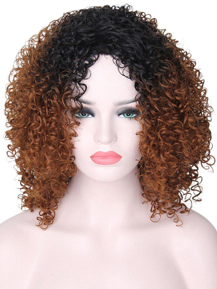 Afro Curly Medium Gradient Synthetic Wig