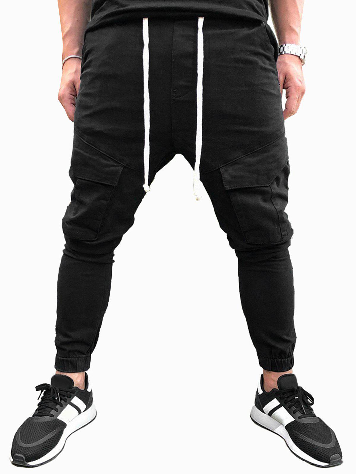 Store Solid Color Drawstring Casual Jogger Pants