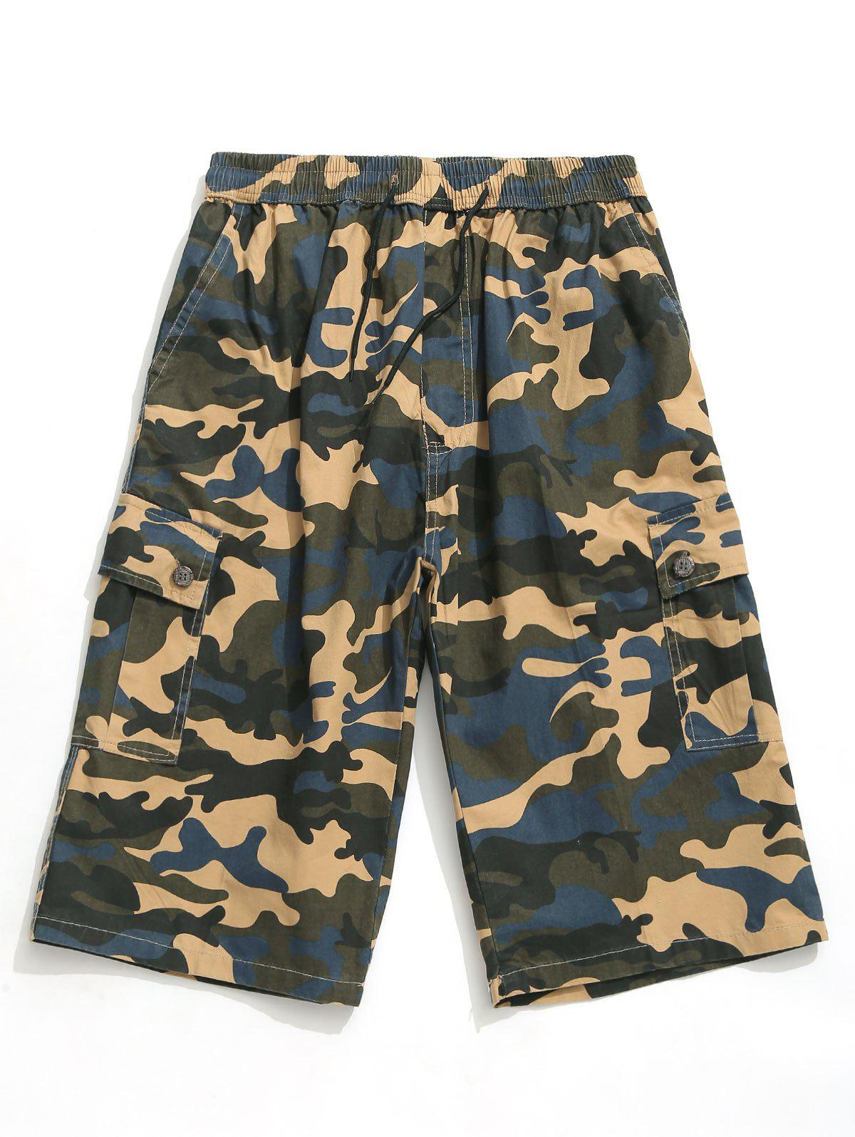 Chic Camouflage Printed Casual Shorts
