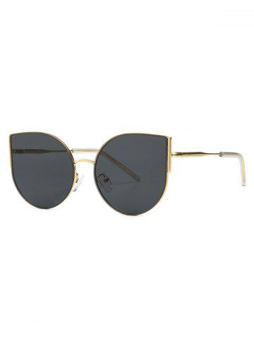 Oversized Metal Catty Eye Sunglasses