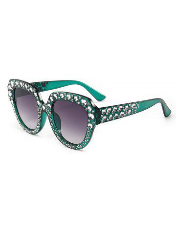 Rhinestone Heart Square Sunglasses