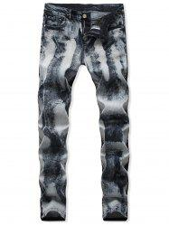 Zipper Fly Design Casual Jeans -