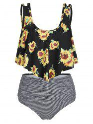 Sunflower Striped Flounce Tankini Set -