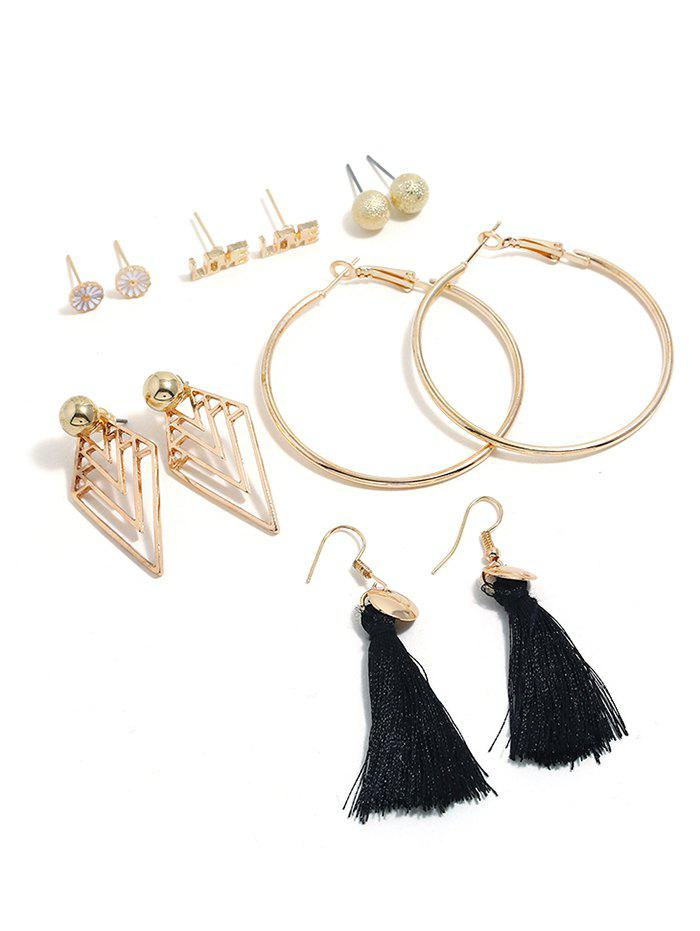 Fashion Tassel Decoration Alloy Earrings Set