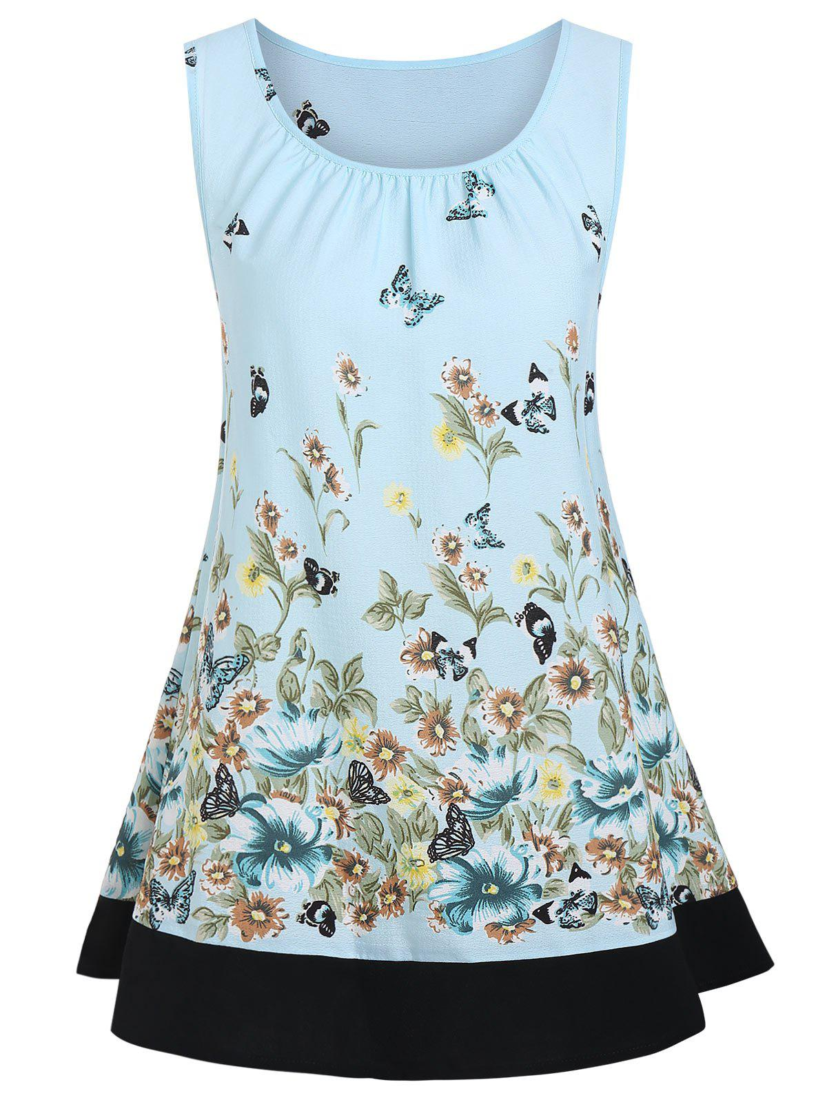 Buy Floral Tunic Tank Blouse