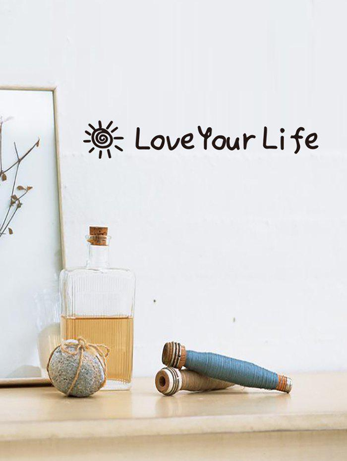 Discount Love Your Life Pattern Wall Stickers