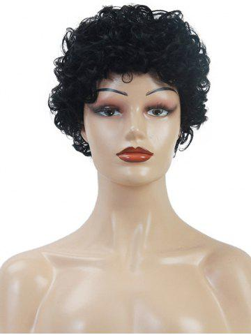 Natural Curly Short Solid Human Hair Wig