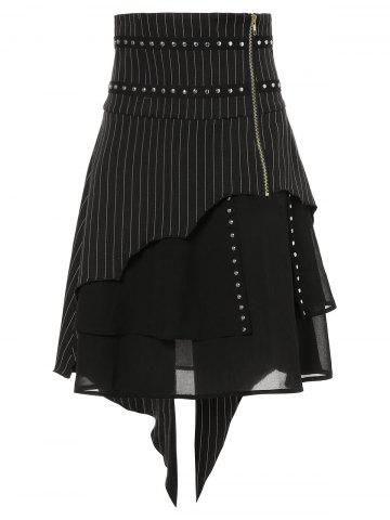 Tiered Asymmetrical Slit Skirts