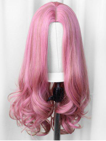 Long Center Part Body Wave Synthetic Cosplay Wig