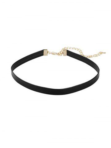 Brief PU Choker Necklace
