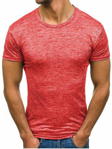Short Sleeves Solid Color Casual Tee