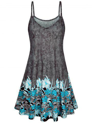 Floral Printed Mini A Line Dress