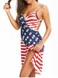American Flag Multi-way Sarong Beach Cover Up -