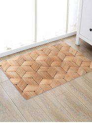 Bamboo Weaving Pattern Water Absorption Area Rug -