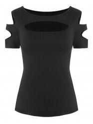 Cut Out Ripped T-shirt -