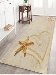 Beach Starfish Heart Pattern Floor Mat -