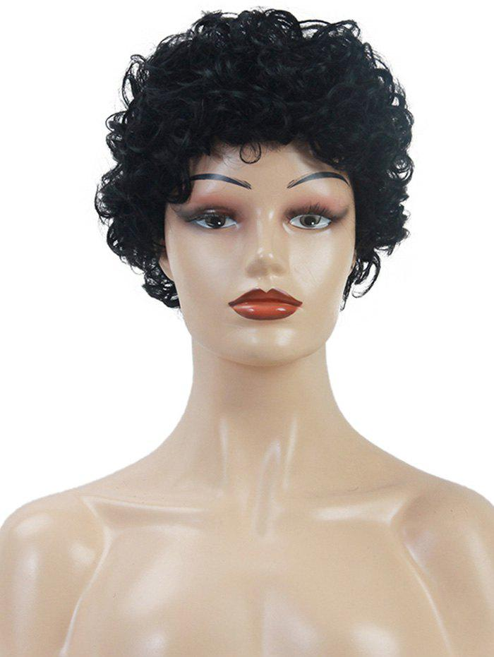 Outfits Natural Curly Short Solid Human Hair Wig