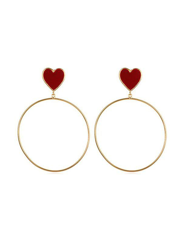 Store Punk Style Big Circle Heart Earrings
