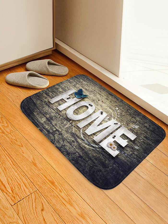 HOME Butterfly Pattern Flannel Water Absorption Area Rug