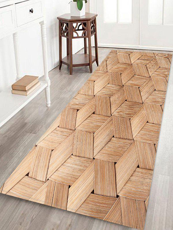Bamboo Weaving Pattern Water Absorption Area Rug