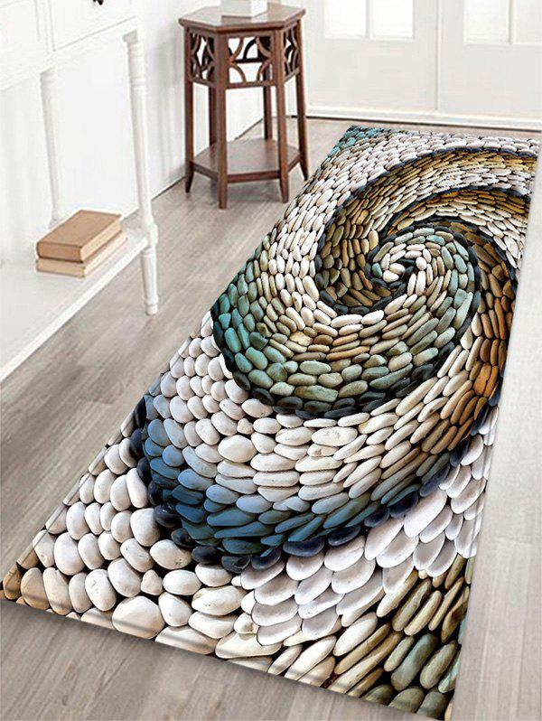 Outfits Stone Vortex Pattern Flannel Water Absorption Area Rug