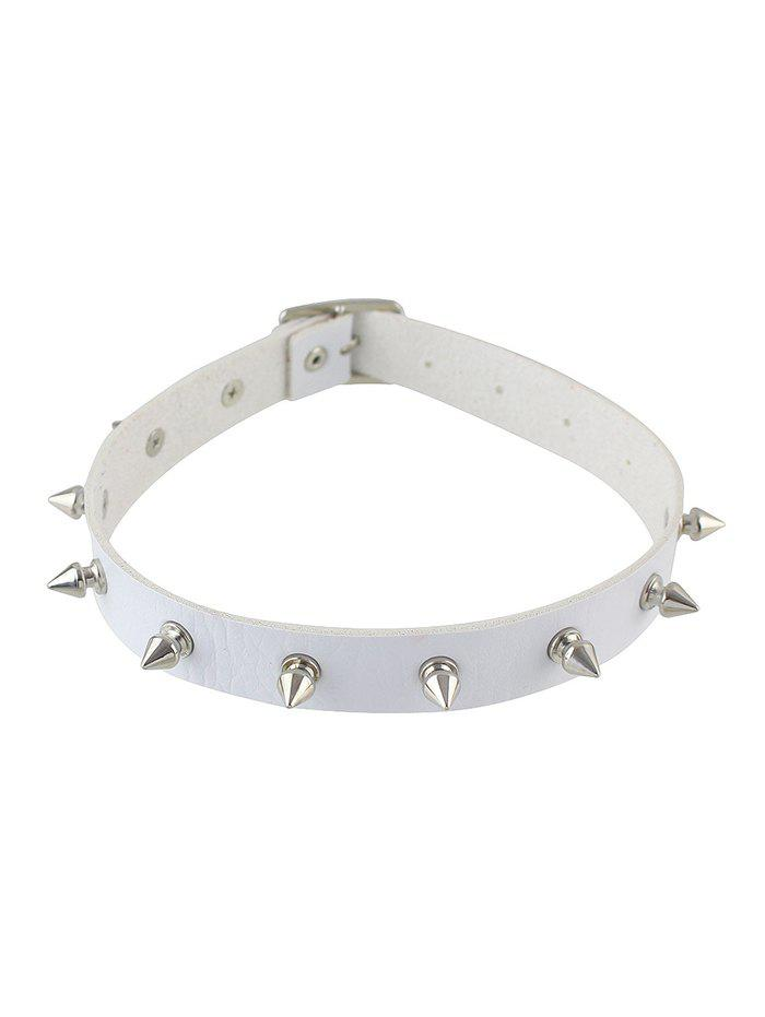 Chic Punk Style Rivet Leather Choker Necklace