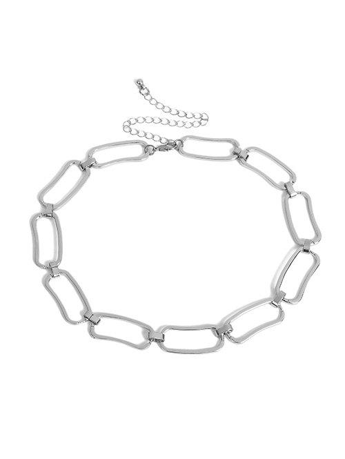 Sale Geometric Hollow Chain Choker Necklace