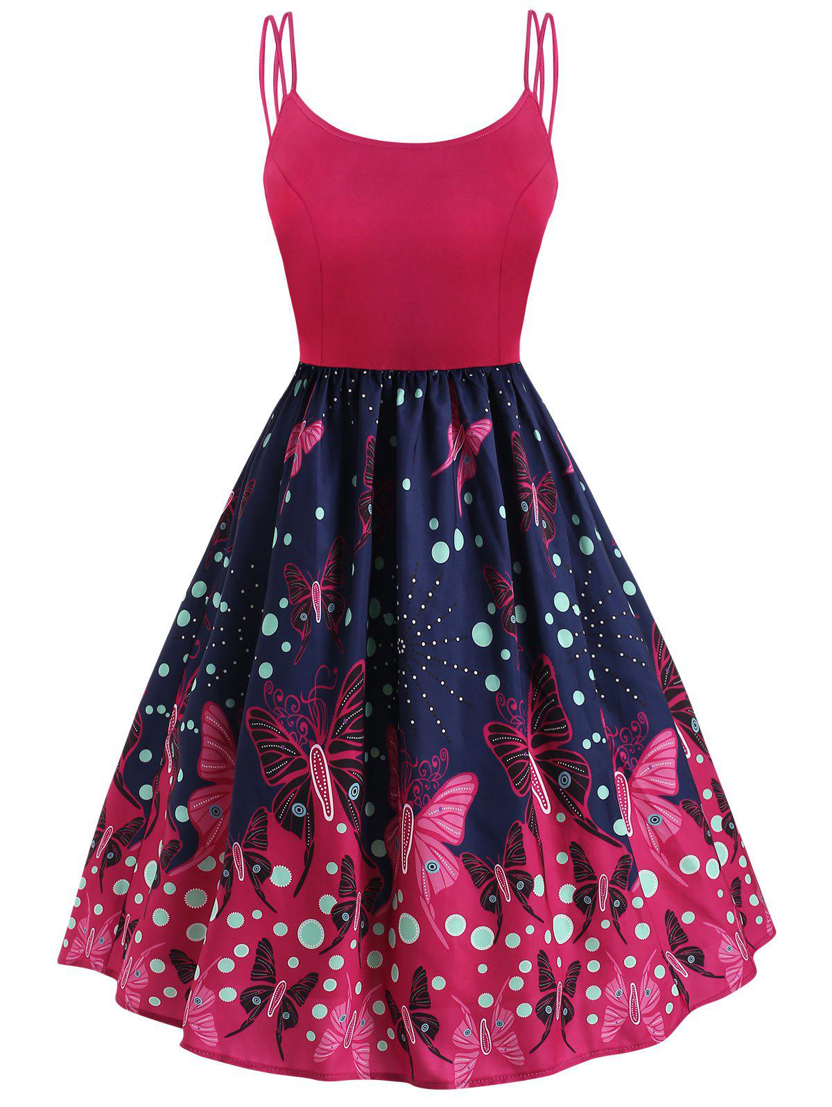 Discount Butterfly Print Plus Size Cami Dress