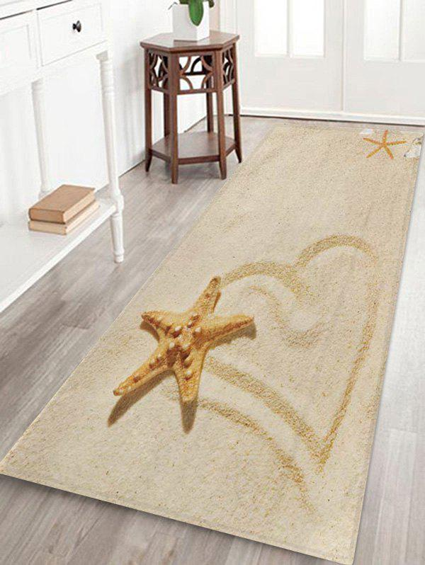 Affordable Beach Starfish Heart Pattern Floor Mat