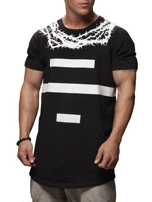 Hot Thorns Number Print Casual T-shirt