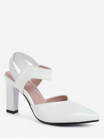 Patent Leather Pointed Poe Heeled Sandals