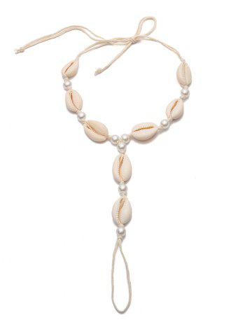 Ethnic Shell Faux Pearls Finger Anklets