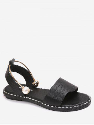 Faux Pearl Decoration Casual Sandals