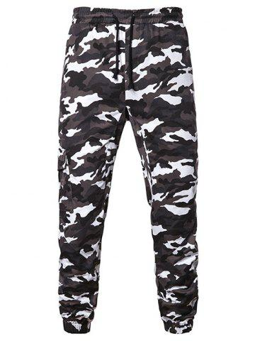 459f90b79e6143 26% OFF] Tree Trunk Leaves Print Casual Jogger Pants | Rosegal
